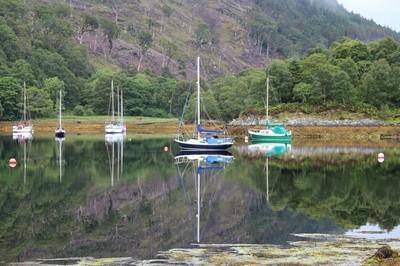 Yacht on still water