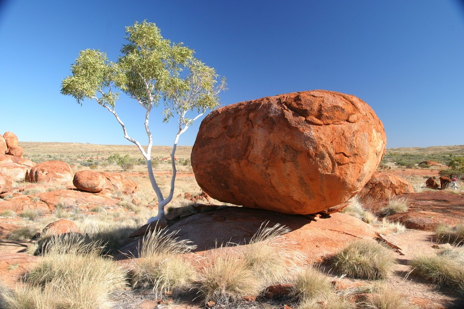 An unusual group of rock formations in Central Australia.