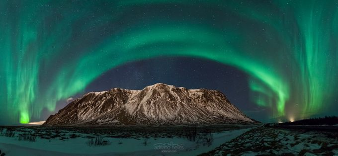 Northern Lights Over the Milky Way by acseven - Sweeping Landscapes Photo Contest