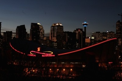Downtown Calgary Skyline at Sunset