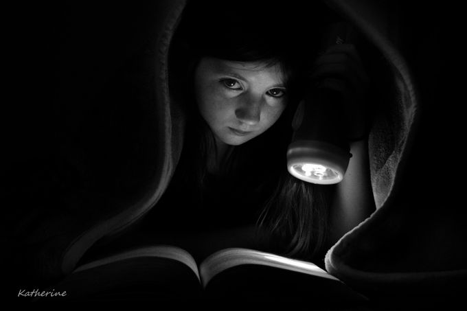 Reading by KatherineM84 - A Black And White World Photo Contest