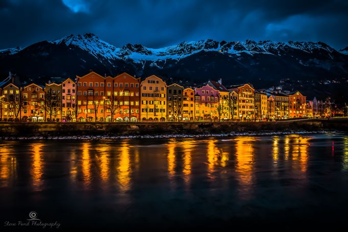 Lights and Colours of Innsbruck by Steve-Pond - City In The Night Photo Contest