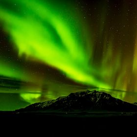 The Northern Lights at their best. Snæfellsnes, Iceland