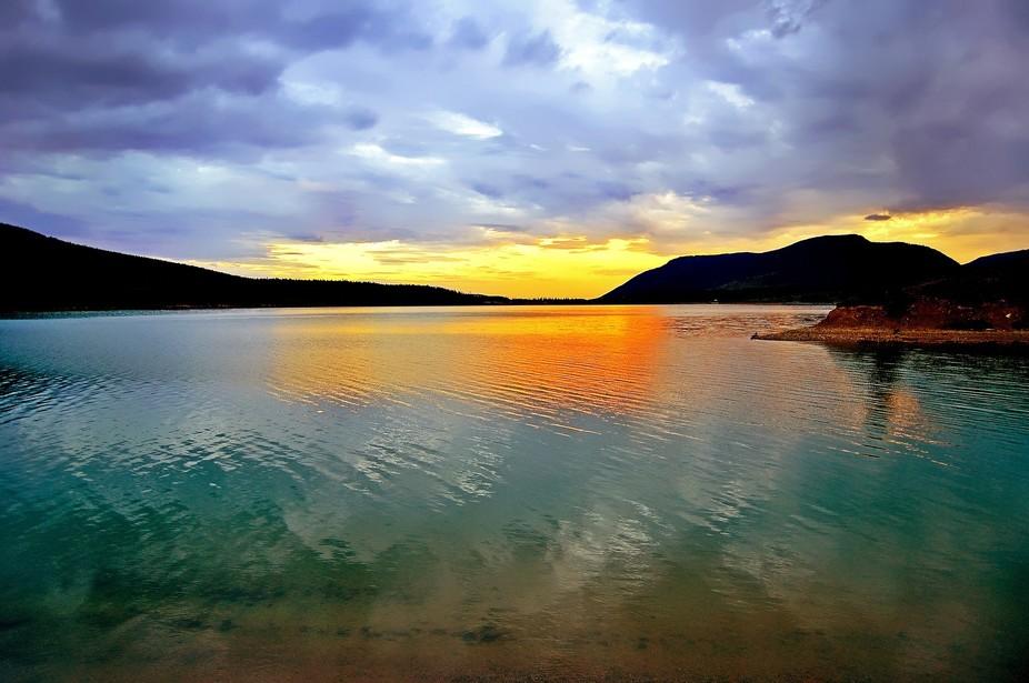 Barrier Lake Sunset, Alberta, Canada