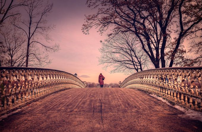 Walking into Central Park by RiccardoMantero - Take A Stroll Photo Contest