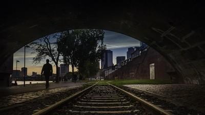 Walking along the Historic Frankfurt Railway