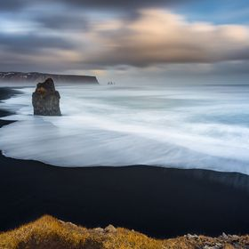 A lovely sunset at the black sand beach of Vik. Iceland is bigger than your imagination..