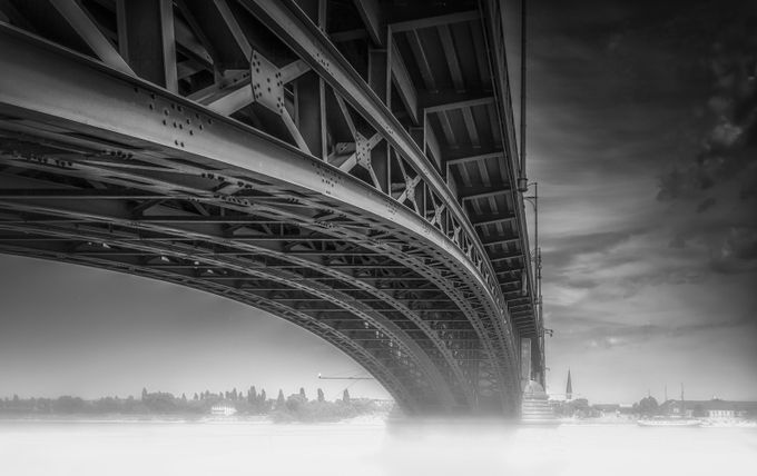 Theodor-Heuss-Brücke by olesteffensen - Above Or Below Photo Contest