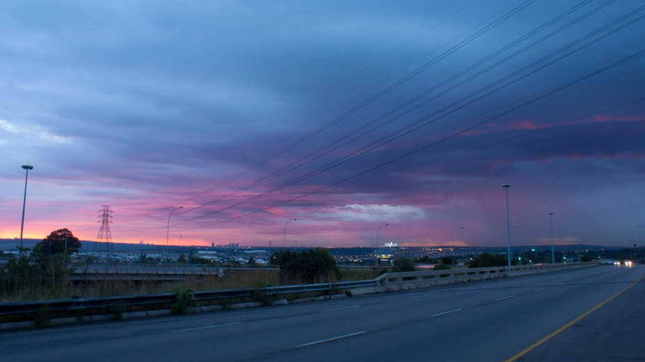 what i wanted to capture was the beauty of the  clouds as the sun was rising.