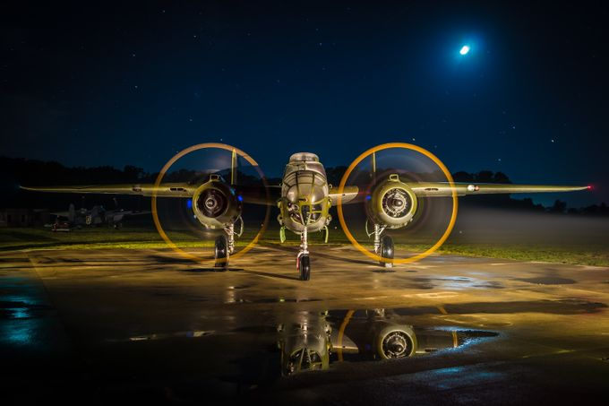 B-25 'Starry night' by TedCobbett - Experimental Light Photo Contest