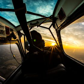 An early morning flight to watch the sunrise south of Longview Texas. 16mm Fisheye lens processed in Photoshop CC and Lightroom.