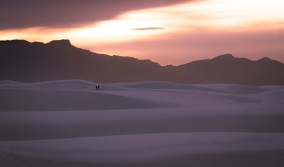 Leave Only Footprints - Sunset at White Sands