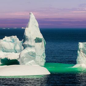 an iceberg in bonavista newfoundland that's run aground