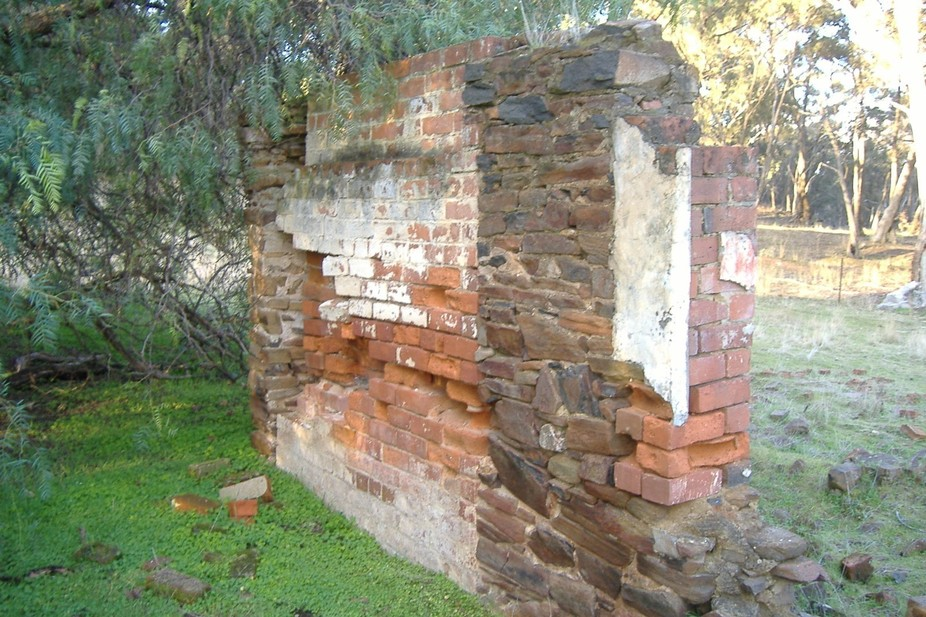 One of the many hundreds of ruins dating back to the gold rush days in central victoria circa 185...