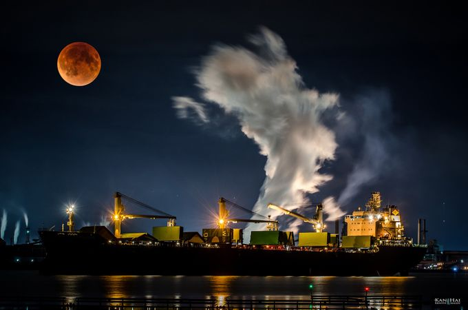 Supermoon Eclipse by neilkanhai - Capture The Four Elements Photo Contest