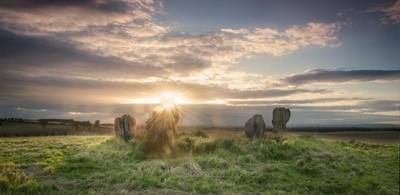 Sunset over Druid Stones