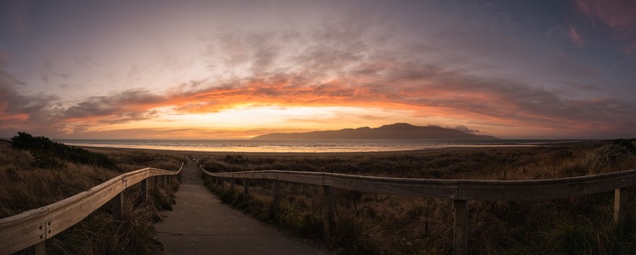 An early spring sunset over Kapiti Island, New Zealand.  Thanks for viewing!