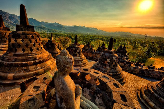 Borobudur Sunset by top100wonders - Zen Photo Contest