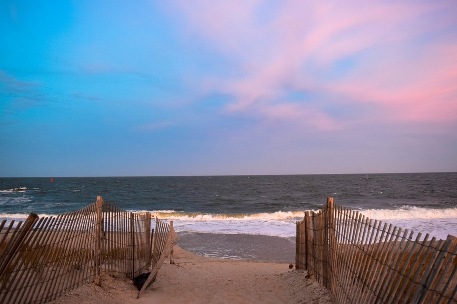 Blues and pinks...pretty hues....fall at the beach best time of the year.