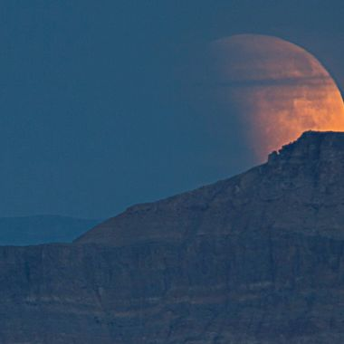 Full Moon, Blood Moon from the Valley of Fire, Nv.