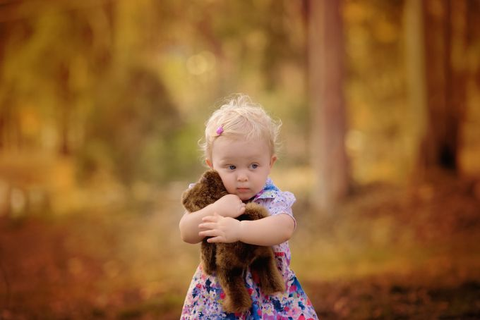 A Girl and her Teddy by EeVeePhotography - Kids With Props Photo Contest