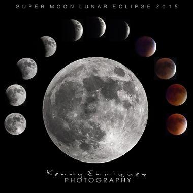Super Moon Luner Eclipse 2015, Cabo Rojo, Puerto Rico