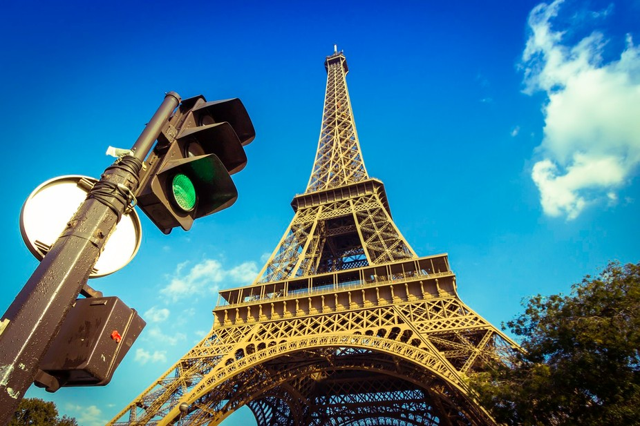 A modern look at the Eiffel Tower
