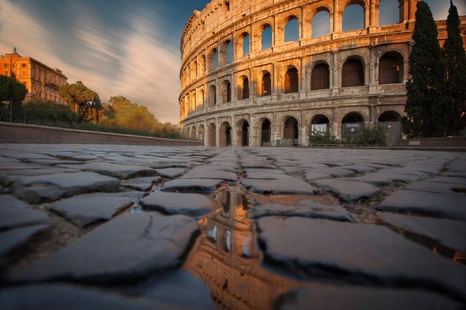 Colloseum Puddlegram by bengreenphotography - Clever Angles Photo Contest