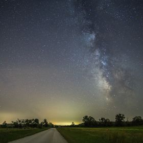 The Milky Way, as seen from East Central Kansas, on a clear summer night.