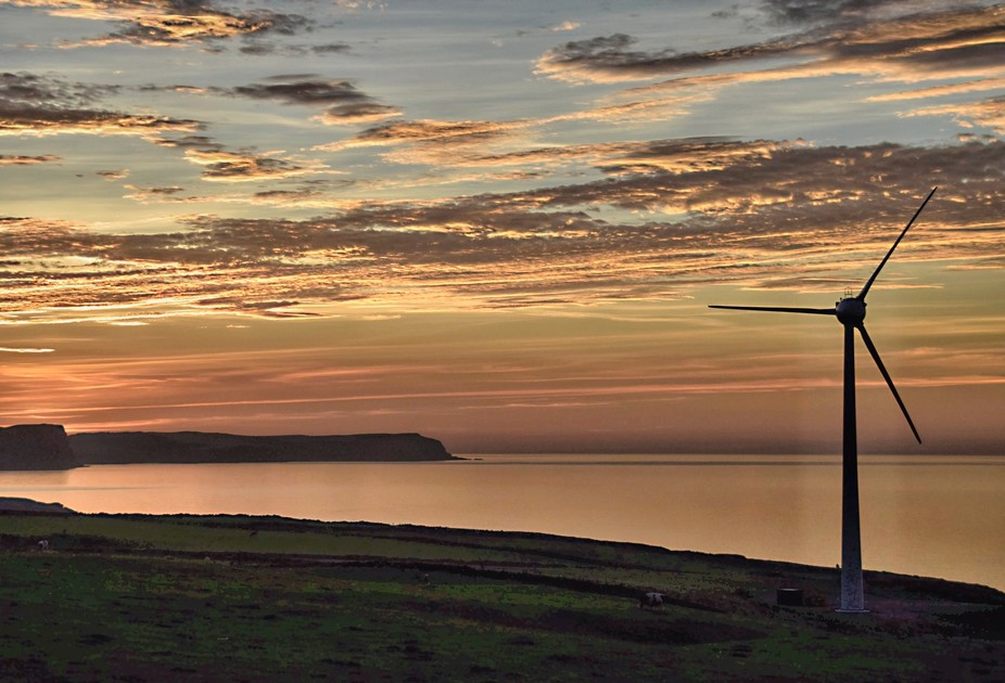 One of 83 pictures taken as the sun was setting last night looking across the Moray firth Scotlan...