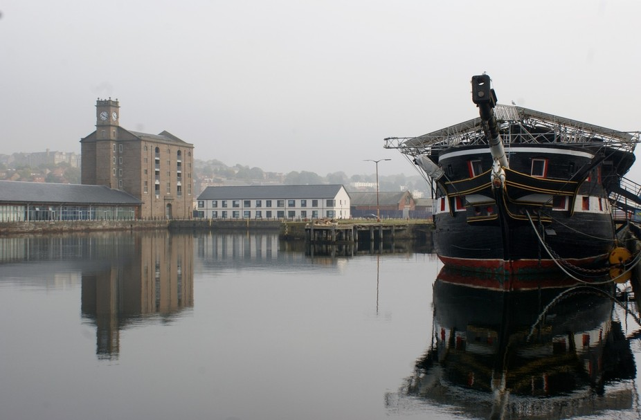 Oldest scottish warship in dundee dock.
