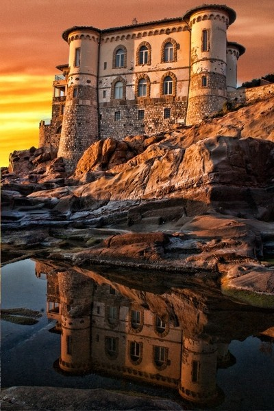 Castel Boccale reflection