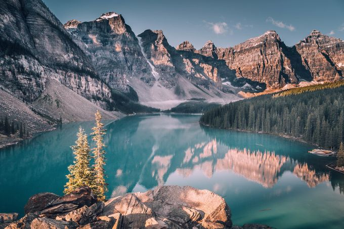 Lake Moraine by leireunzueta - Alluring Landscapes Photo Contest