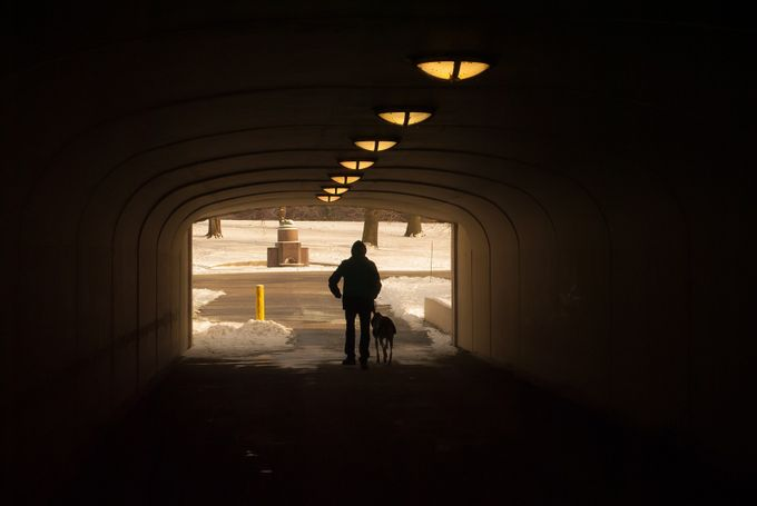 A walk with a friend by JoseFSandoval - Shooting Tunnels Photo Contest