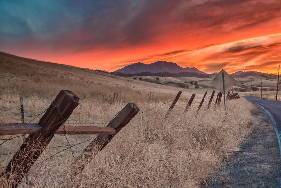 Empire Mine Road sunset