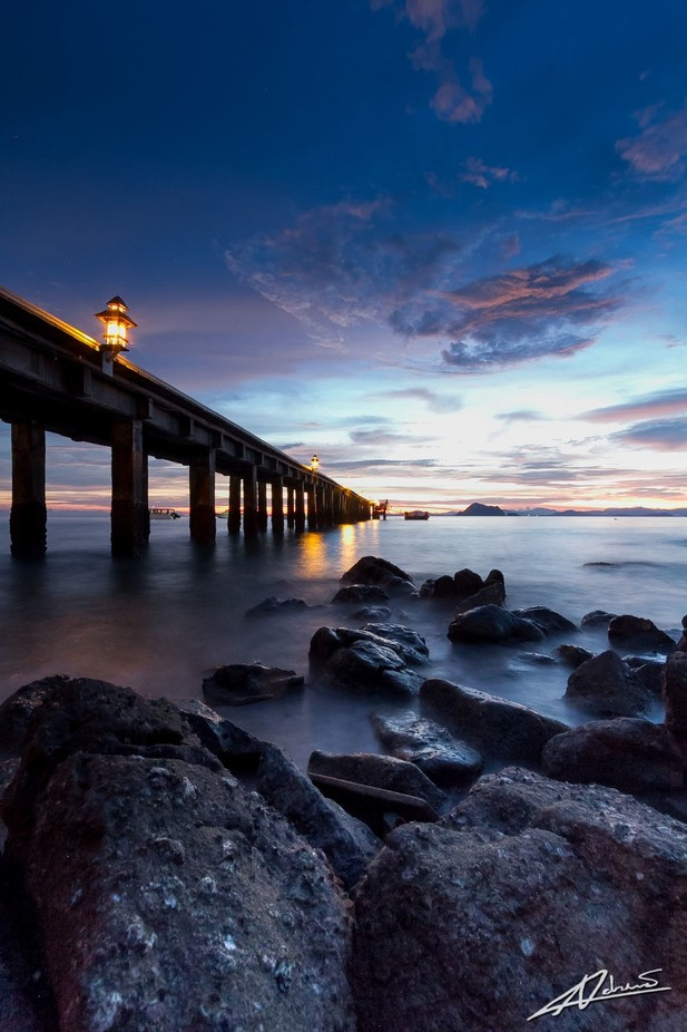 Koh YAo YAi, jetty at sunset by Adriano73 - The View Under The Pier Photo Contest