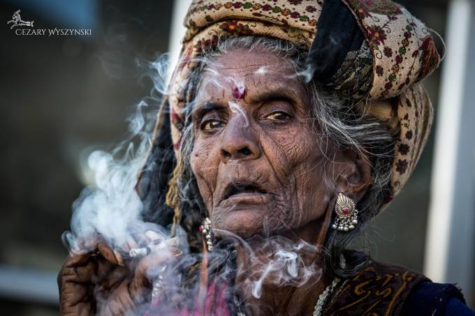 Oracle from Udaipur. She already knows..  by Cezary-Wyszynski - Dramatic Portraits Photo Contest