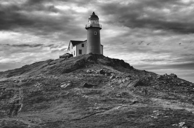 Ferryland Lighthouse by Eunice1 - A Black And White World Photo Contest