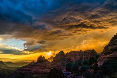 Sedona, AZ stormy skies