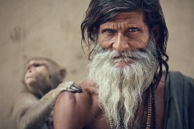 Sadhu and Monkey