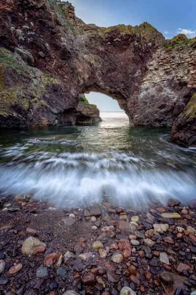 Dunbar sea arch, 3rd October, 2015