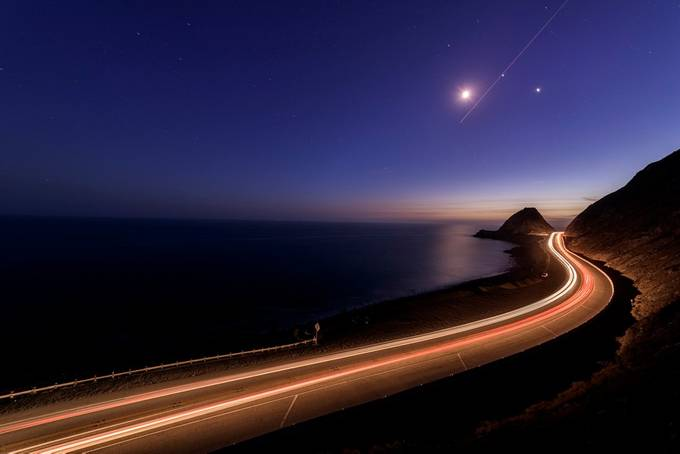 Nightfall at Point Mugu. by jasongerard - Composing with Curves Photo Contest