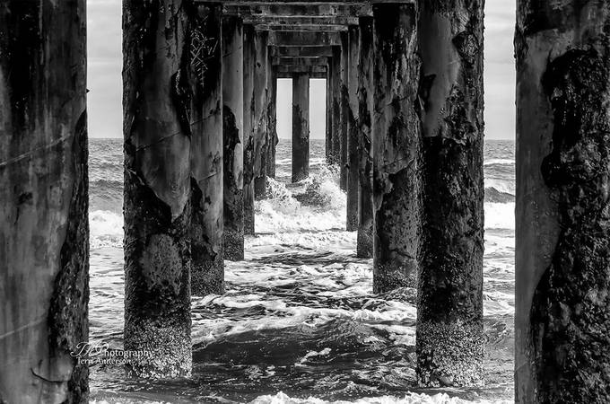 Under the Pier by terrianderson - A Black And White World Photo Contest