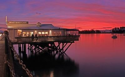 The Boatshed at Sunset
