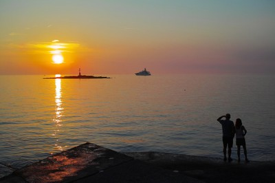 Sunset in Porec (Croatia)