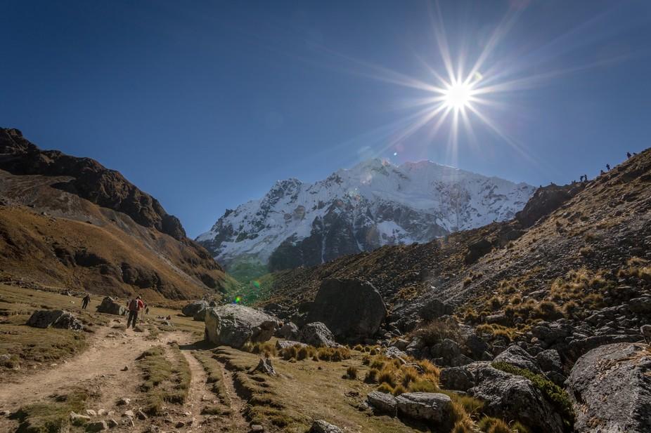 Salkantay or wild mountain it is located on Vilcabamba mountain range
