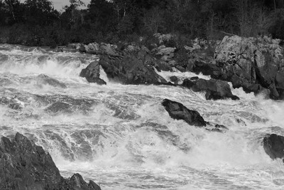 Great Falls after Hurricane 8 B&W