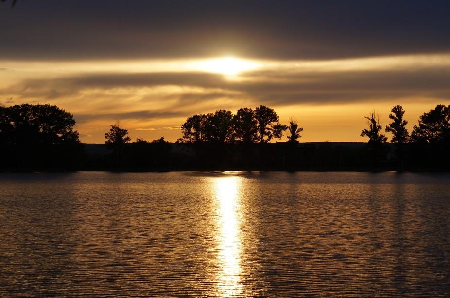 City Lake Sunset
