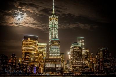 Full Moon on a NYC Skyline