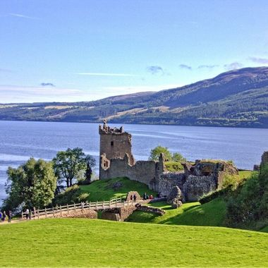 This photo was taken at Urquhart Castle, in Scotland, this September (2015) while we were visiting the country.